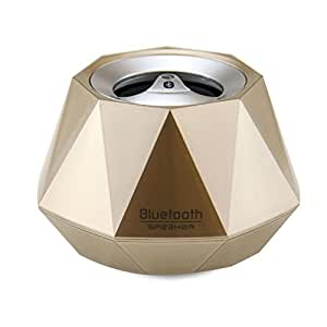 LB1 High Performance New Wireless Bluetooth Mini Speaker for Samsung Galaxy S 5 Diamond Bluetooth Speaker with Built-in Microphone for Hands-Free Phone Call (Gold)