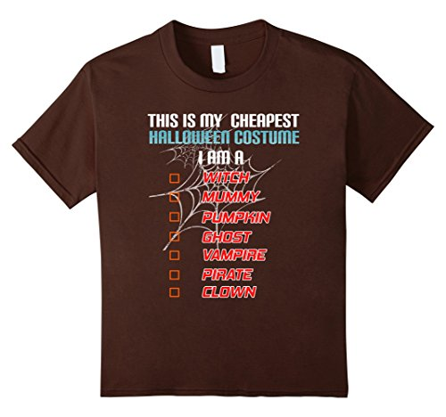 List Of Halloween Ideas (Kids Funny Cheapest Halloween Checklist Costume Tshirt Tee 10 Brown)