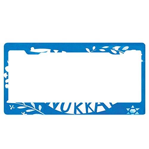 Chrome License Plate Frame Standard Size License Plate Frame Will Never Rust or corrode - Dove Boxed Hanukkah
