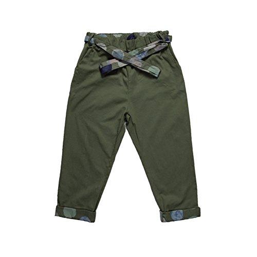 Cotone Casual A Militaria Verde In Vita Civico Cintura 51 Donna Con Pantaloni Alta Ytxqww4SX7