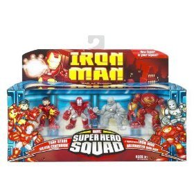 - Iron Man Movie Toy Super Hero Squad Battle Pack Hall of Armor