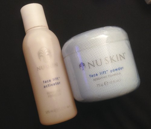 (NuSkin Nu Skin Face Lift with Activator - Sensitive Formula - 2.6 Oz Powder + 4.2 Oz Activator)