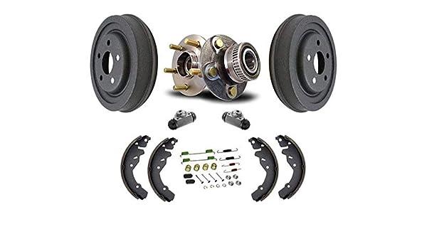 Rear Wheel Bearings  Brake Drums Brake Shoes /& Spring for Honda CRV 97-01 7Pc