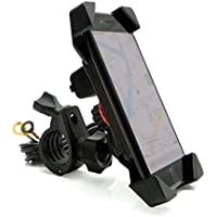Motorcycle Phone Mount Holder with USB Charger Port Universal - iPhone Stand 7/8 Handlebar Cradle Holder for Smartphone GPS, iPhone/Plus-Motorycle Yamaha FZ07 harley vstar 650 KTM KLR650 gs1200