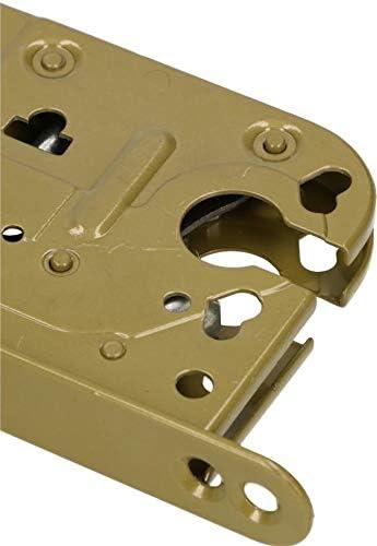 KOTARBAU Serrure de porte universelle en acier avec rev/êtement en poudre et rev/êtement en acier inoxydable 72//45 mm