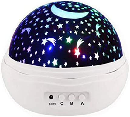 Enshey Lámpara de proyección, luz Nocturna para bebé, Colorido ...