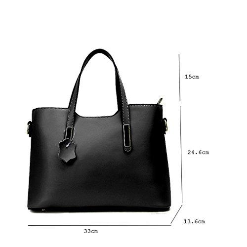 bandoulière à mode Sac Black européen à Sac bandoulière PU sac féminin Lxf20 xwa7tq0Rn