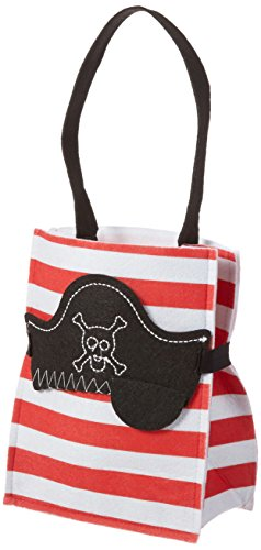 Mud Pie Mask Treat Bag, Red Pirate -