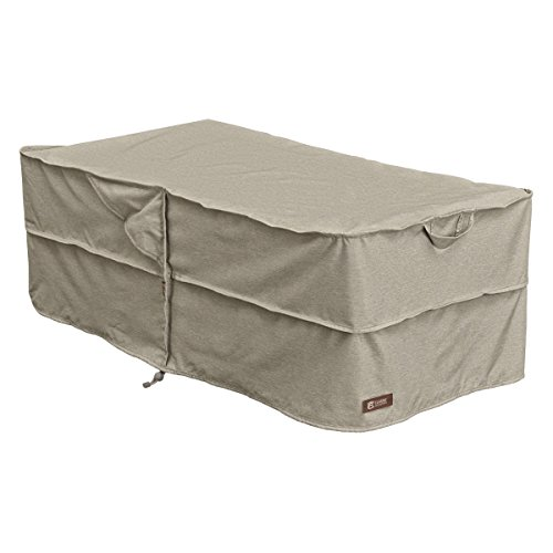 Classic Accessories Montlake FadeSafe Rectangle Patio Ottoman/Coffee Table Cover - Heavy Duty Outdoor Furniture Cover with Waterproof Backing (55-679-016701-RT) by Classic Accessories
