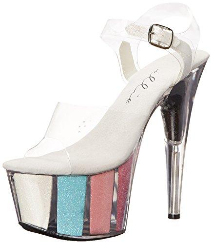 Ellie Shoes Womens 709-glitter Sandalo Della Piattaforma Multi