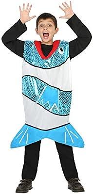 Atosa-24209 Disfraz Pez, Color Azul, 5 a 6 años (24209): Amazon.es ...