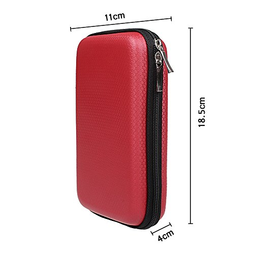 xhorizon TM FX Portable Waterproof Hard EVA Shockproof Travel Carry Protective Case Cover Pouch Box Bag for PlayStation Vita / HDD / External Battery Charger / Earphone / USB Disk / Memory Card by xhorizon (Image #3)