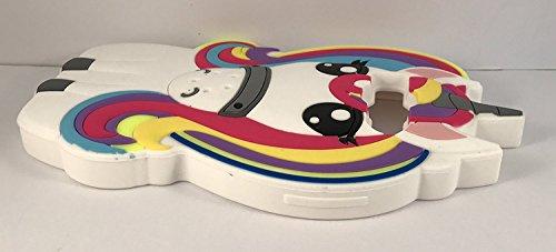 SKS Distribution® Arco iris fantasía unicornio pony caballo suave silicona caso de teléfono móvil para Samsung Galaxy On7
