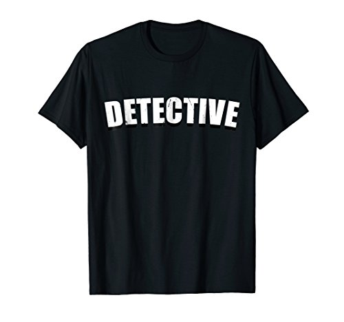 Detective T Shirt Halloween Costume Funny Cute