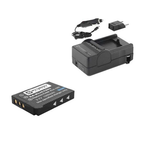 GE E850 Digital Camera Accessory Kit includes: SDKLIC7003 Battery, SDM-174 Charger