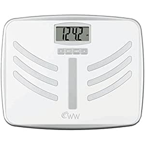 Weight Watchers Scales by Conair Body Analysis and Tracker Scale; White