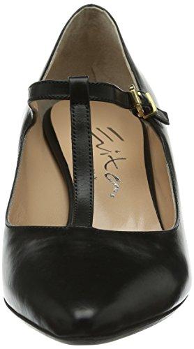 para Evita de Pumps Negro Zapatos mujer corte geschlossen Negro Shoes 5qITrwIY