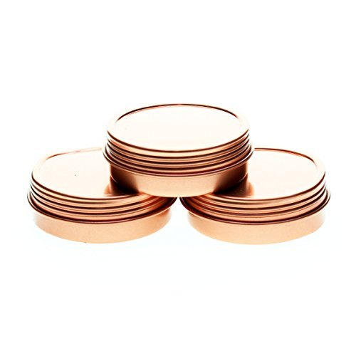 Mimi Pack ALL 1 oz Screw Top Tins (Rose Gold) by Craft Clouds