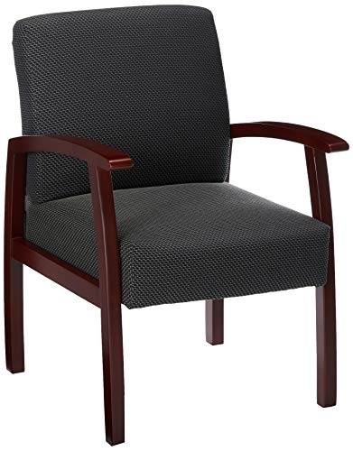 Lorell Guest Chairs, 24 by 25 by 35-1/2-Inch, Mahogany/Charcoal]()