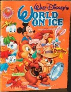 Walt Disney's World on Ice - Souvenir Program - Little Mermaid; Duck Tales; Chip 'N Dale; Roger Rabbit