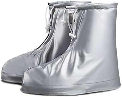 ArunnersTM 100% Waterproof Bike Shoes Covers Reusable Rain Snow Overshoes Travel Women Men(XXXL,Silver)