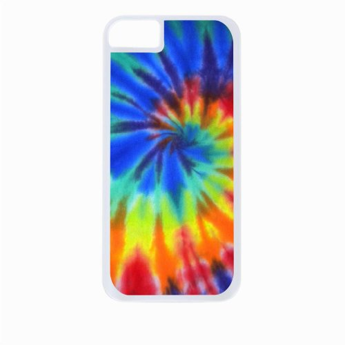 Colorful Tie - Dye Iphone 5C Rubber DOUBLE LAYER PROTECTION white case - compatible with Iphone 5 5c (Best Wallpaper For Iphone 5 White)