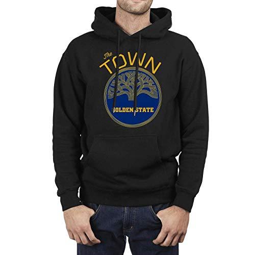 Men Black Hooded The Golden Sweatshirt Classic Kangaroo Pocket Wool Warm Pullover Clothing