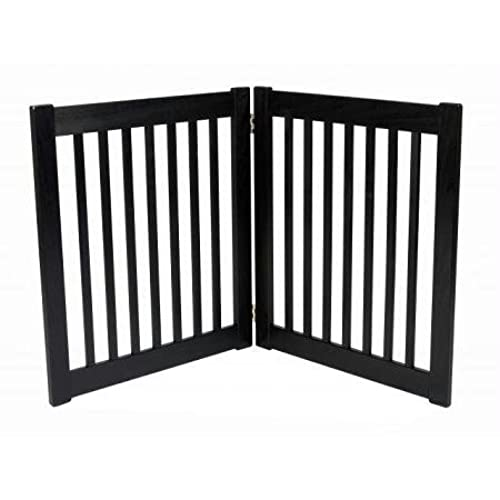 Charmant Freestanding Pet Gate 27 Inch 2 Panel Black
