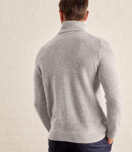 Col Pull D'agneau Homme Grey À Wool Overs Marl Roulé Laine 5tcqUwPw7