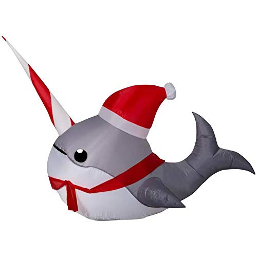 Holiday Living 3.08-ft x 4-ft Lighted Narwhal Christmas Inflatable for $<!--$33.95-->