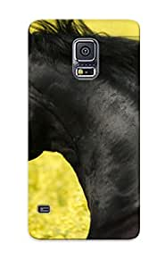 Fashion Tpu Case For Galaxy S5- Portrait Of A Friesian Defender Case Cover