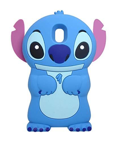 Samsung Galaxy J7 2018 (J737P), Galaxy J7 Aero, J7 Star, J7 Top, J7 Aura,J7 Crown, J7 Refine, J7 V 2nd Gen Stitch Case,3D Cartoon Animal Character Soft Silicone Cover (Blue Stitch)