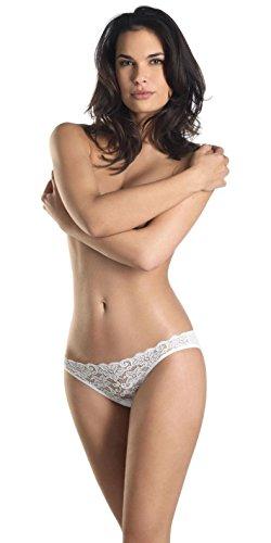 Hanro Women's Luxury Moments Bikini Panty, White, Medium