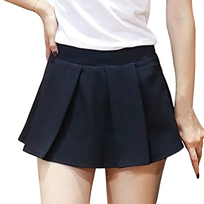 ITOPAI Women Sport Solid Color Mini Underpants Skirt at Women's Clothing store