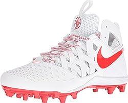 Nike Men's Huarache V Lax Cleated Shoe (Whitelt Crimson, 11.5)