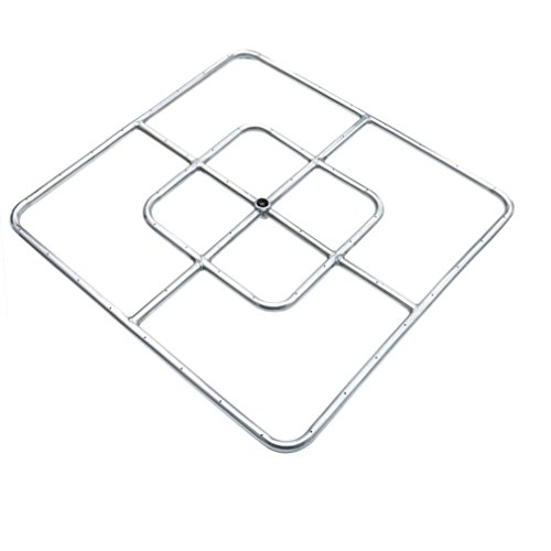 onlyfire 24-inch Stainless Steel Square Fire Pit Burner, Double (Square Fire Ring)