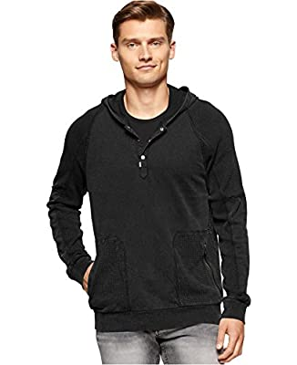 Calvin Klein Men's Acid-Wash Light Hoodie