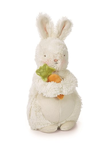 (Bunnies By The Bay Bunches Plush Bunny with Carrot, Warm White, 10