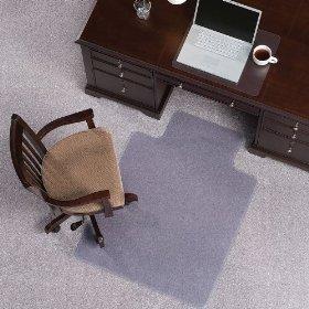 ES Robbins Everlife Carpet ChairMat Medium Pile 60''x72'' Rectangle Clear