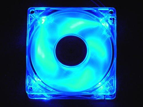 80mm blue led fan - 6