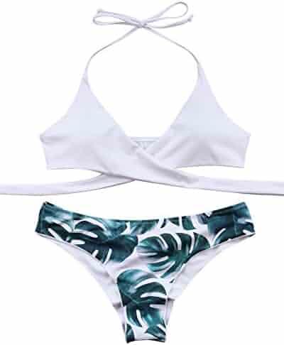 224eba57ebe19 MOOSKINI Womens Padded Push-up Bikini Set Bathing Suits Two Pieces Swimsuit