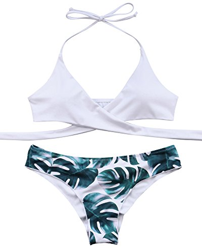 ed Push-up Bikini Set Bathing Suits Two Pieces Swimsuit Green Medium ()