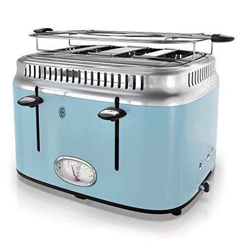 Russell Hobbs TR9250BLR Retro Style Toaster, 4-Slice, Blue