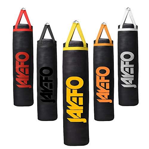 - Jayefo Trexter Heavy Punching Bag Muay Thai Boxing MMA Fitness Workout Training Kicking Punching Banana Bag - Unfilled (Black/Yellow)