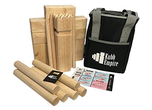 Hardwood Set (Kubb Empire Standard Edition Premium Hardwood Set With Backpack)