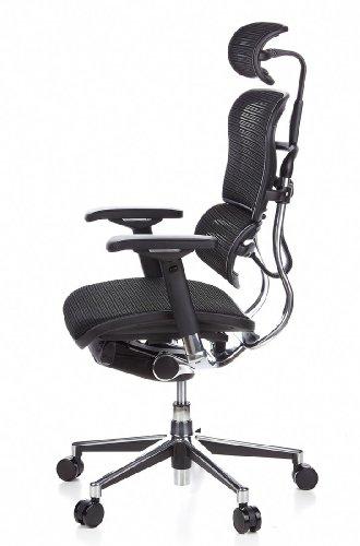 Ergohuman Bürostuhl mit Netz-Stoff, schwarz - 13