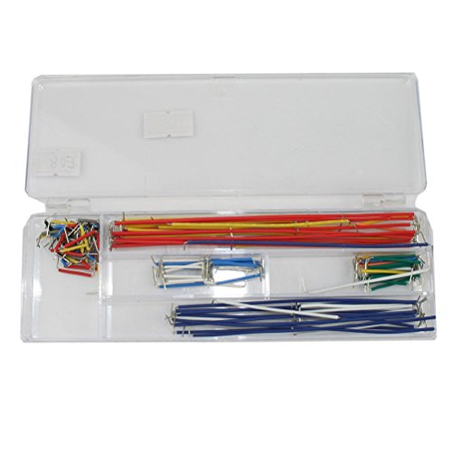 Tinksky Breadboard Jumper Cable Wire Kit With Box for Arduino Board-140pcs by TINKSKY