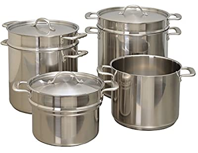 Update International CDB-10 Induction-Ready Double Boiler and Cover, 10 Qt, Stainless Steel
