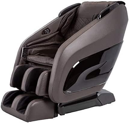 Titan Chair Apex AP- Zero Gravity Massage Chair, Foot Rollers, Space Saving, L-Track Design, and Lower Back Heat Therapy Dark Brown