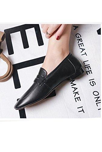 Planas Simples Solteros Moda Casual Ocio Perezosos Zapatos Planos Mujer de Redondo de ZFNYY Zapatos de 0qUFPHH